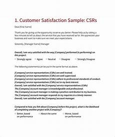 Cover Letter For Survey Free 10 Sample Customer Satisfaction Survey Templates In