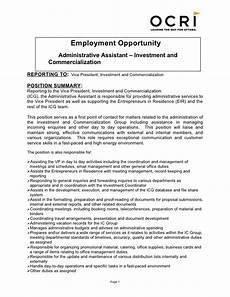 Senior Administrative Assistant Job Description Icg Administrative Assistant Job Description