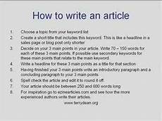 How To Write Copyright How To Write An Article Youtube