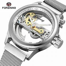 Steel By Design Watch Forsining Men S Skeleton Self Winding Luxury Brand