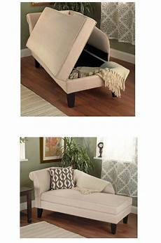 new beige upholstered storage chaise bench lounge loveseat