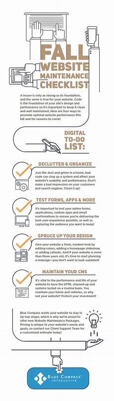 Best Way To Make A Checklist Fall Website Maintenance Checklist From Blue Compass
