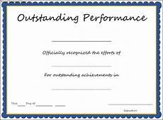 Product Performance Certificate Format Outstanding Performance Award Certificate Template