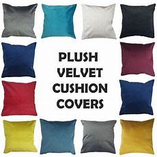 soft plush velvet cushion cover with concealed