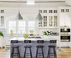 white kitchen with island 15 gorgeous white kitchens with coloured islands the