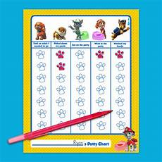 Free Printable Potty Chart Paw Patrol Paw Patrol Potty Training Chart Nickelodeon Parents