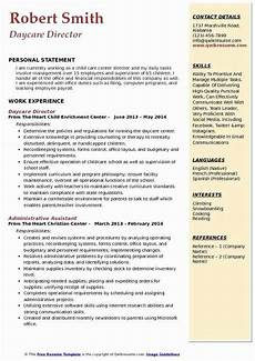 Resume For Child Care Director 20 Child Care Job Description Resume In 2020 Childcare