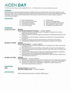 Sample Resume For Marketing Executive Position Marketing Resume Examples Marketing Sample Resumes