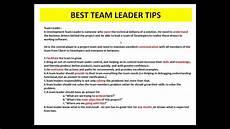 Good Team Leader 8 Good Qualities Of A Team Leader Youtube