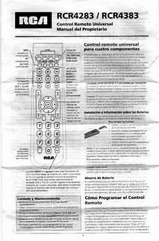 Rca Universal Remote Rcr4283 User Guide Manualsonline Com