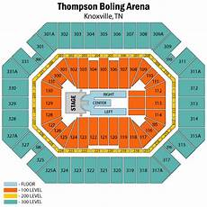 Thompson Boling Arena Seating Chart With Row Numbers Thompson Boling Arena Map