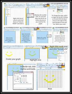 How To Make A Crochet Pattern Chart How To Make Graph Paper In Excel Graph Crochet Crochet