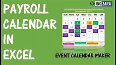 2020 Payroll Calendar Template Payroll Calendar Using Event Calendar Maker Excel Template