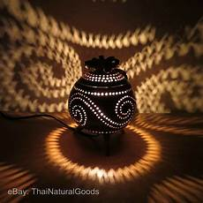 Coconut Shell Lights Wooden Bedside Table Lamps Made Of Coconut Shell Asian