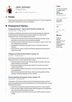 Sample Resume For Commercial Painter Resume Amp Guide 12 Samples Pdf 2020