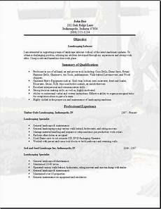 Resume For Landscaping Landscaping Resume Occupational Examples Samples Free