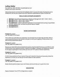 Career Transition Resumes Resume Templates Jobscan