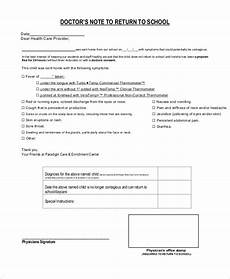 Sample Return To Work Note From Doctor Doctors Note Template For School 6 Free Word Pdf