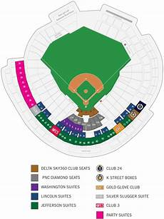 Washington Nats Stadium Seating Chart Seating Map Washington Nationals