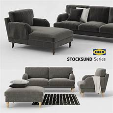 Sofa Cover 3d Image by 3d Ikea Stocksund Sofa Chair Ottoman Chaise Sofa Cover