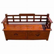 rustic wood storage drawers sofa entry way bench