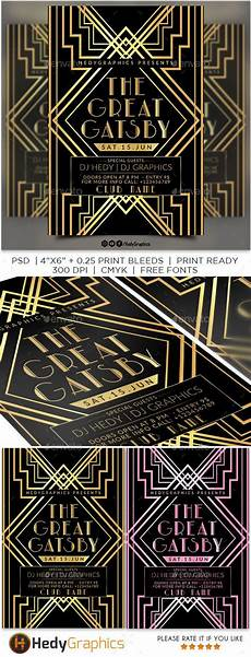 Great Flyers The Great Gatsby Events Flyers Flyer Templates