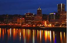 Light Bulbs Portland Oregon Portland Oregon At Dusk With City Lights Photograph By