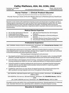 Expertise In Resumes Nurse Trainer Resume Sample Monster Com