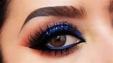 electric blue smokey eye makeup tutorial