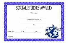 Social Service Certificate Format Editable Certificate Social Studies 10 Perfect Designs Free