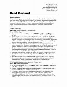 Writing Career Objectives Career Objective Resume Examples For Example Your Training