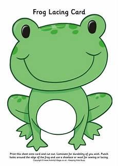 Malvorlage Frosch Mit Krone Frog Lacing Card