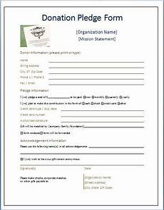 Donation Pledge Form Template Sample Donation Pledge Form Daily Medical Forms