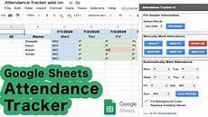 Google Attendance Tracker Google Sheets Attendance Tracker Free Addon Youtube