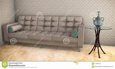 Lilac Sofa 3d Image by White Sofa With Blue Pattern 3d Illustration On Parquet