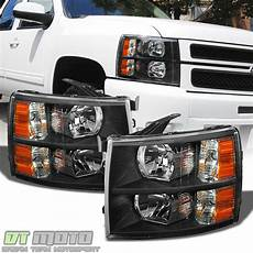 Aftermarket Headlights And Lights For Trucks Blk 2007 2014 Chevy Silverado 1500 2500hd Replacement
