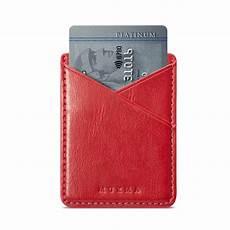 sell mobile credit leather credit card wallet holder back pocket stick on