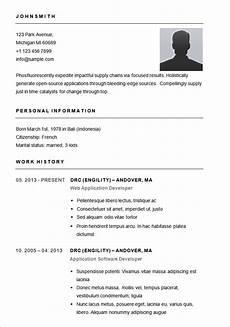 Free Blank Resume Templates Download 70 Basic Resume Templates Pdf Doc Psd Free
