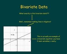 Bivariate Data Bivariate Data Tutorial Learning