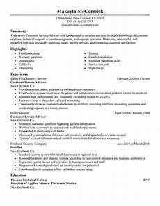 Live Career Customer Service Best Sales Customer Service Advisor Resume Example