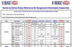 Aerovox Capacitor Cross Reference Chart Surge Components