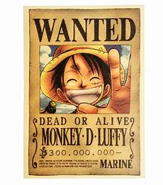 One Piece Wanted Poster One Piece Monkey D Luffy Wanted Poster For Sale