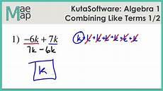 Terms In Algebra Kutasoftware Algebra 1 Using The Distributive Property