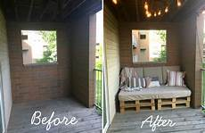 balcony makeover with diy pallet