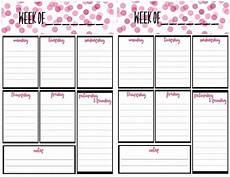 Todo Calendar Planner Free Weekly Calendar Planner Printable Full And Half Size