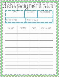 Credit Card Payment Plan Calculator Debt Payment Plan Printable By Arodgersdesigns On Etsy