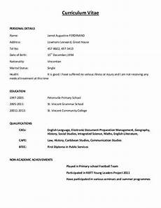 How To Make A Simple Cv Simple Curriculum Vitae Format Simple Curriculum Vitae