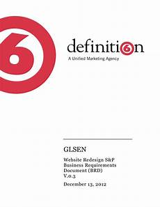 Documentation Template 40 Simple Business Requirements Document Templates ᐅ