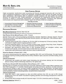 Cv Personal Statement Examples Finance Resume Sample Chief Financial Officer Page 1 Executive