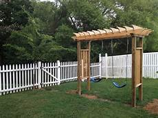 pergola swing this is the new swing set i just built for the when